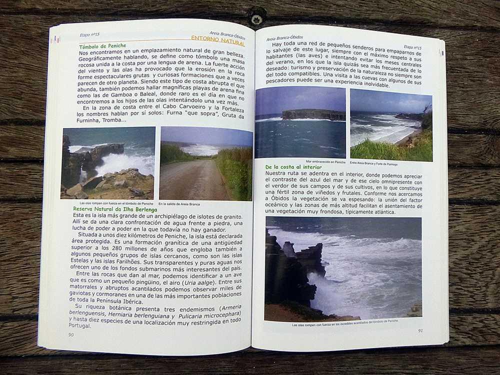 Costa Portuguesa en Bicicleta,ruta,libro