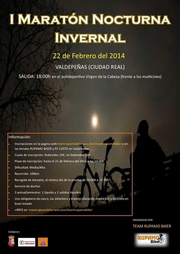 cartel maraton nocturna valdepeñas
