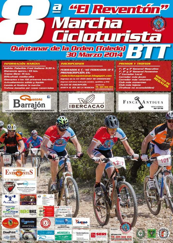 """cartel Marcha cicloturista BTT """"El Reventó"""