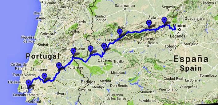lisboa madrid mapa El Extremadura GR100 y el Sport Bike se unen para la ION4 Madrid  lisboa madrid mapa