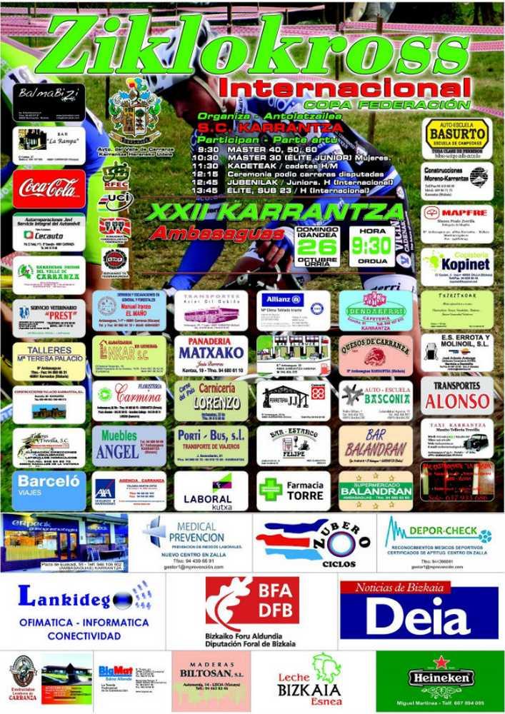 Cartel ciclocross de KARRANTZA 2014
