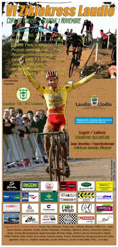 Ciclocross Llodio 2014 Cartel Oficial 1