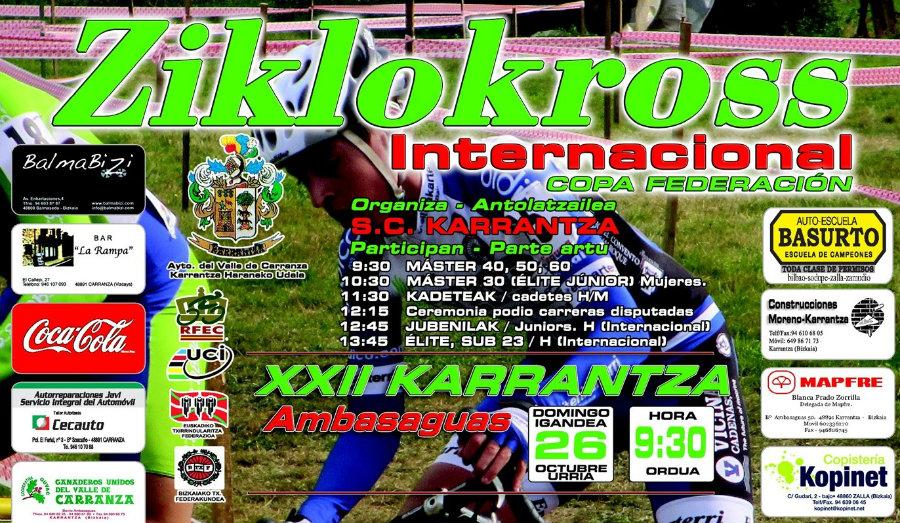 Portada Cartel ciclocross de KARRANTZA 2014
