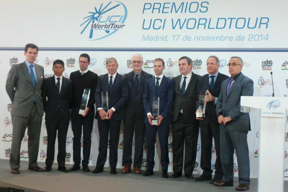 Ganadores y autoridades premios uci 2014