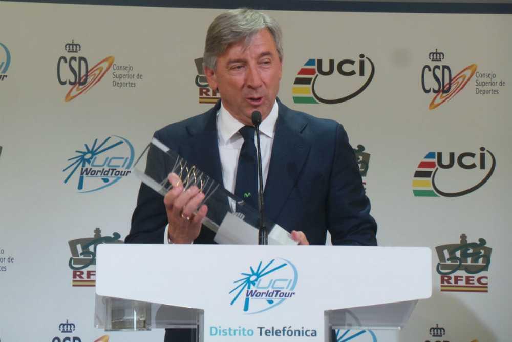Unzue movistar ganador premio uci 2014