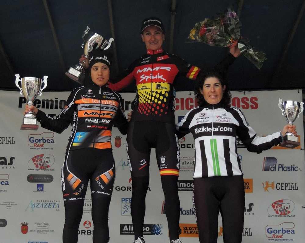 podio elite  femenino ciclocross Ametzaga