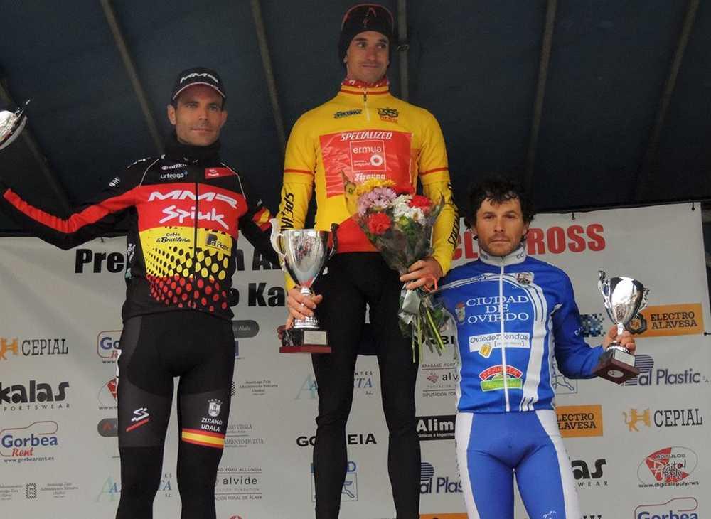 podio masculino elite ciclocross Ametzaga