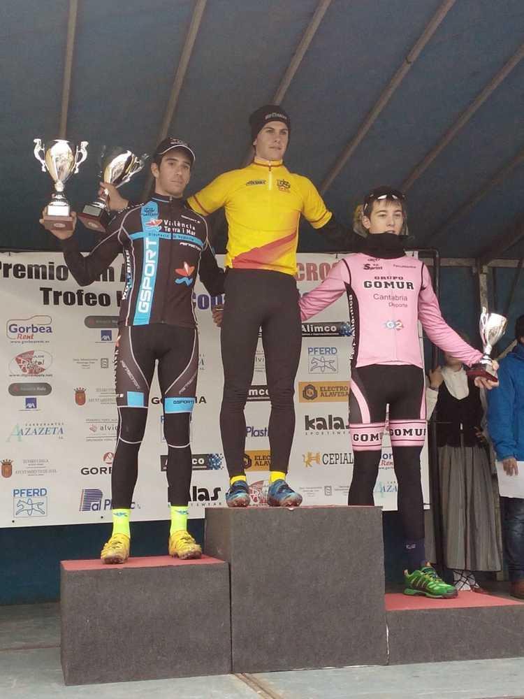 podio masculino sub 23 ciclocross Ametzaga