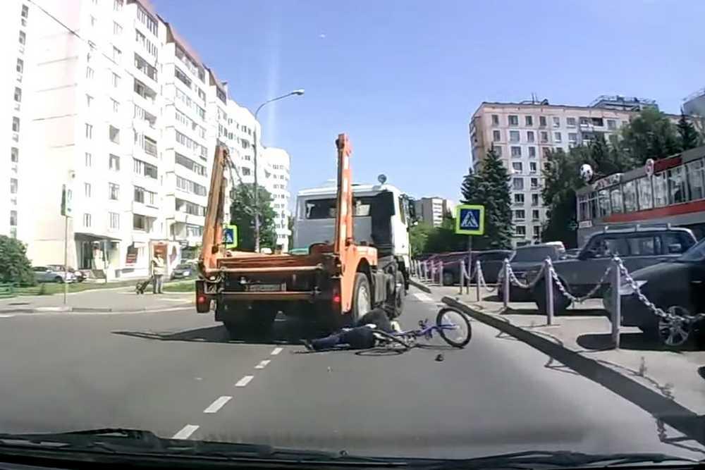 Ciclistas con mucha suerte