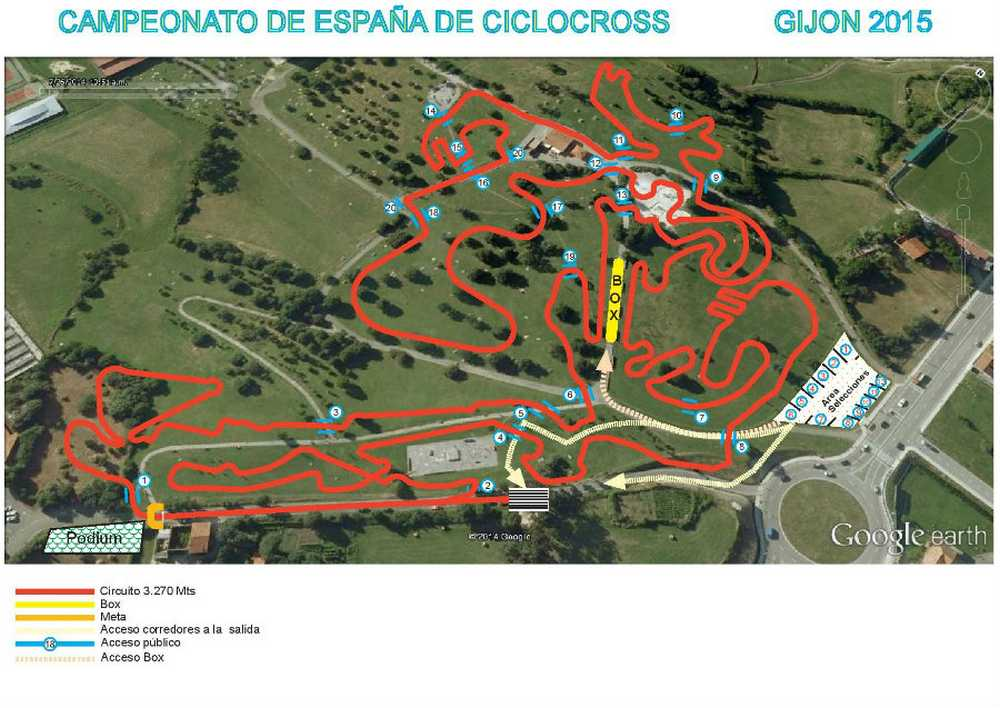 Plano recorrido CE CX Gijón 2015
