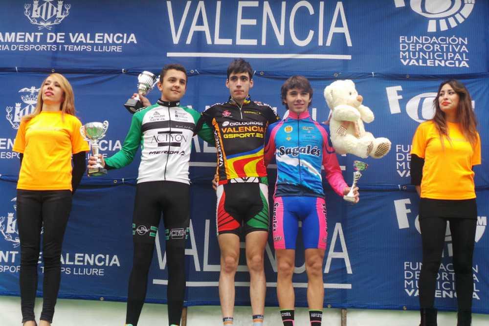 Podio cadete Copa de España ciclocross 2014
