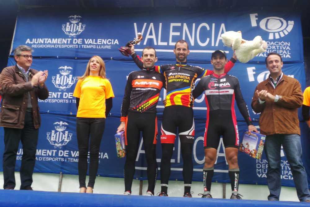 Podio master 40 Copa de España ciclocross 2014