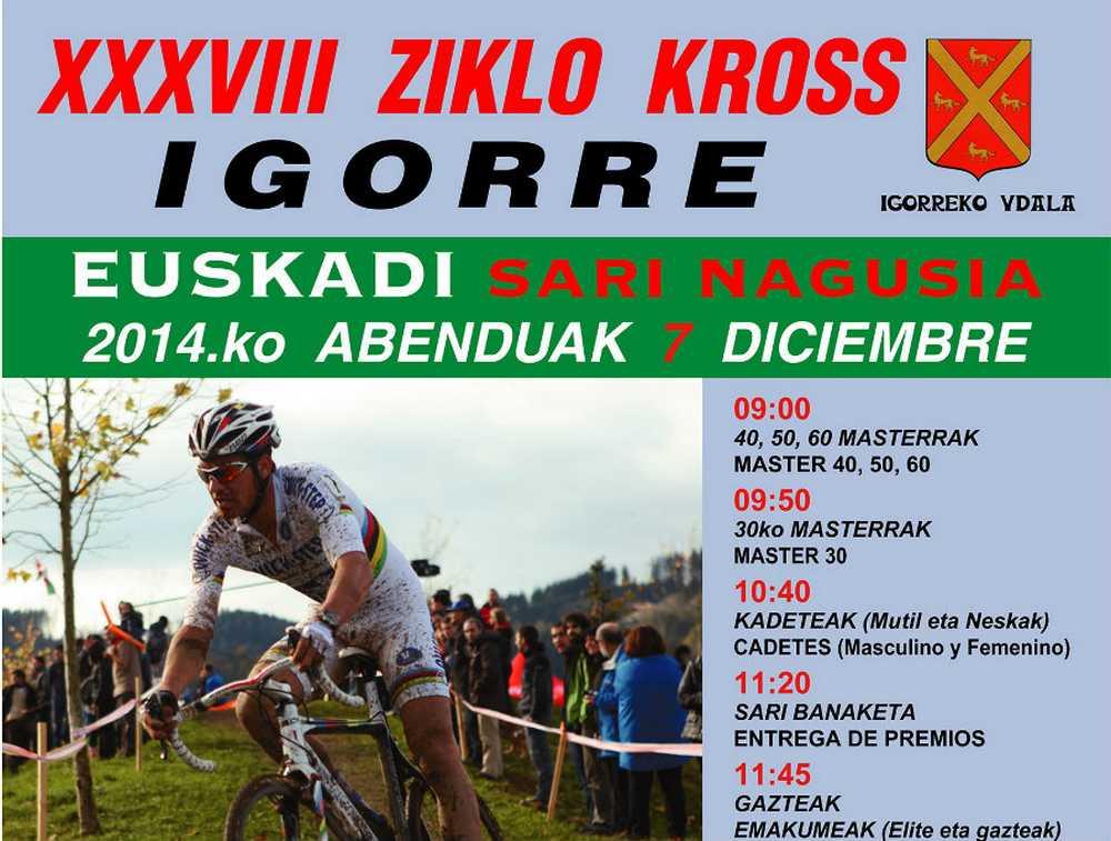 portada Cartel ciclocross Igorre 2014