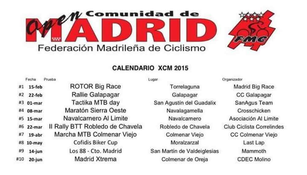 Calendario Open de Madrid