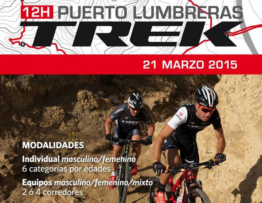 Cartel 12 Horas Trek Puerto Lumbreras 2015