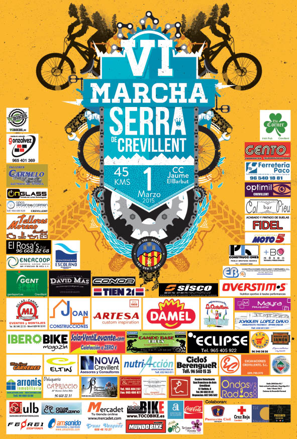 Cartel Marcha BTT Serra de Crevillent