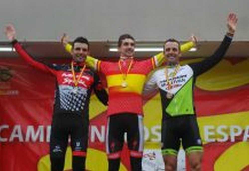 Podio elite campeonato de españa ciclocross 2015
