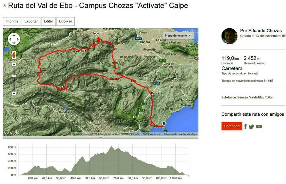Ruta Val de Ebo
