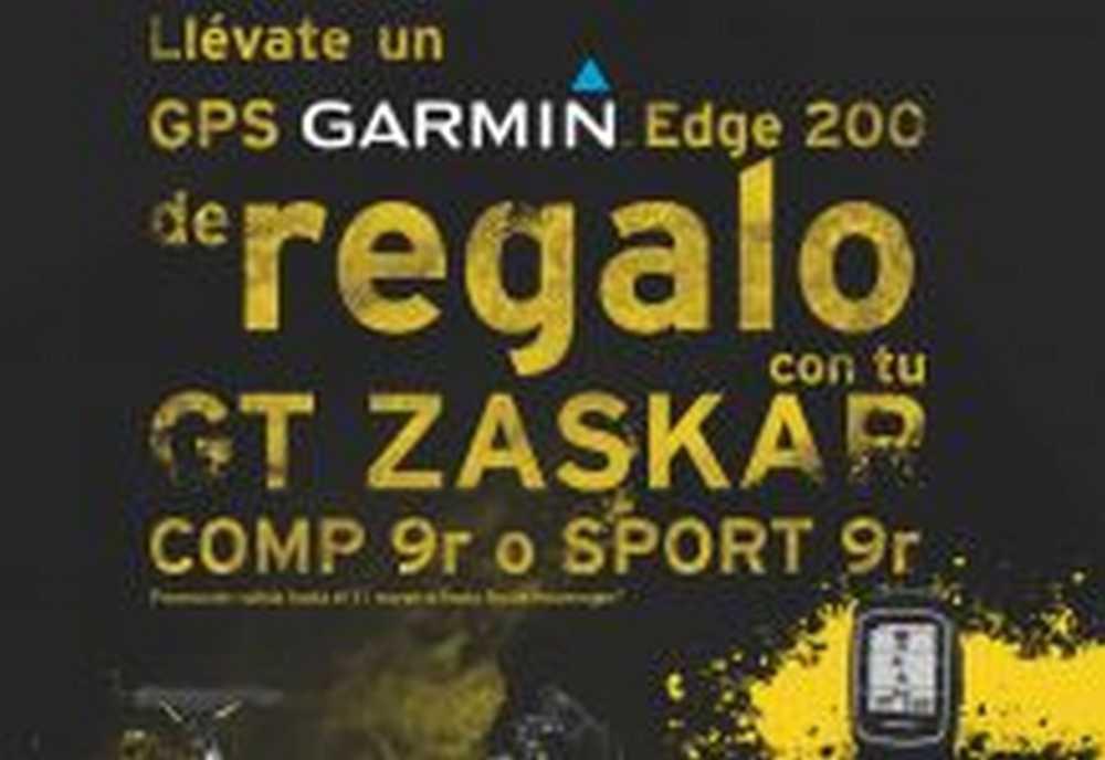 GT Zaskar y GARMIN