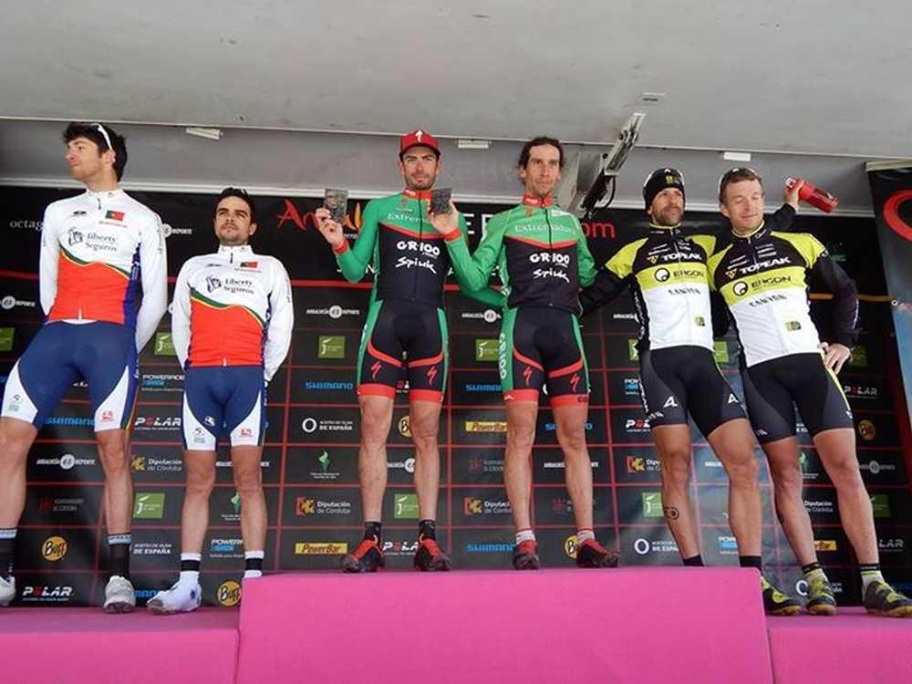 Podio masculino elite cuarta etapa Andalucia Bike Race 2015 ABR