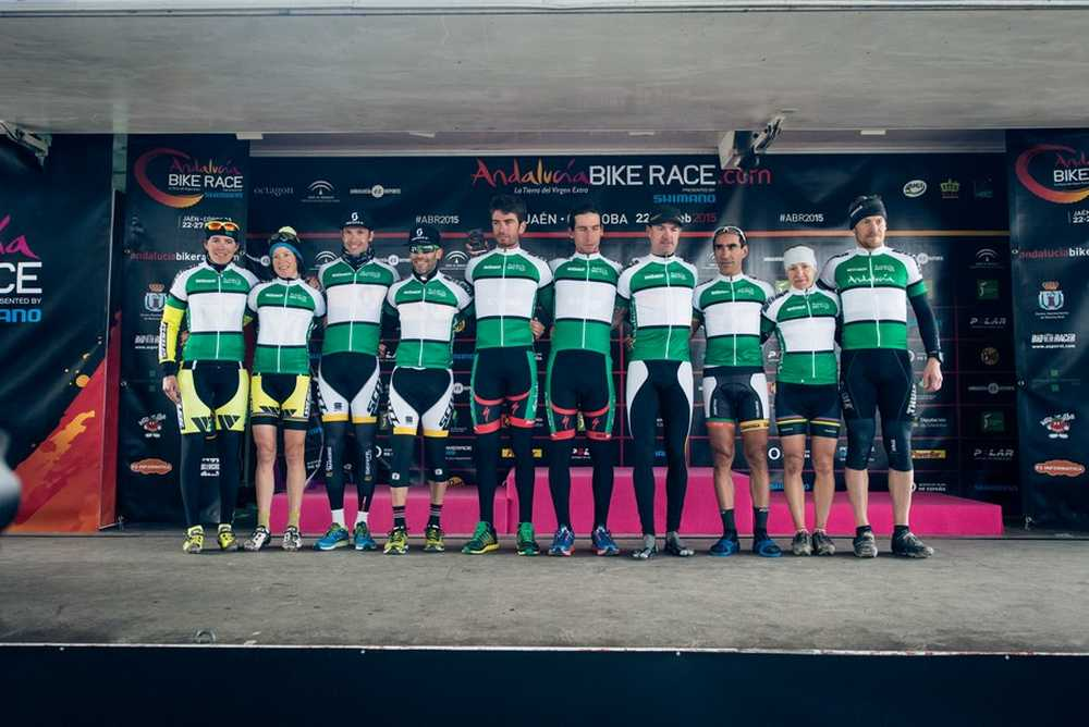 Podio segunda etapa ABR Andalucia Bike Race 2015