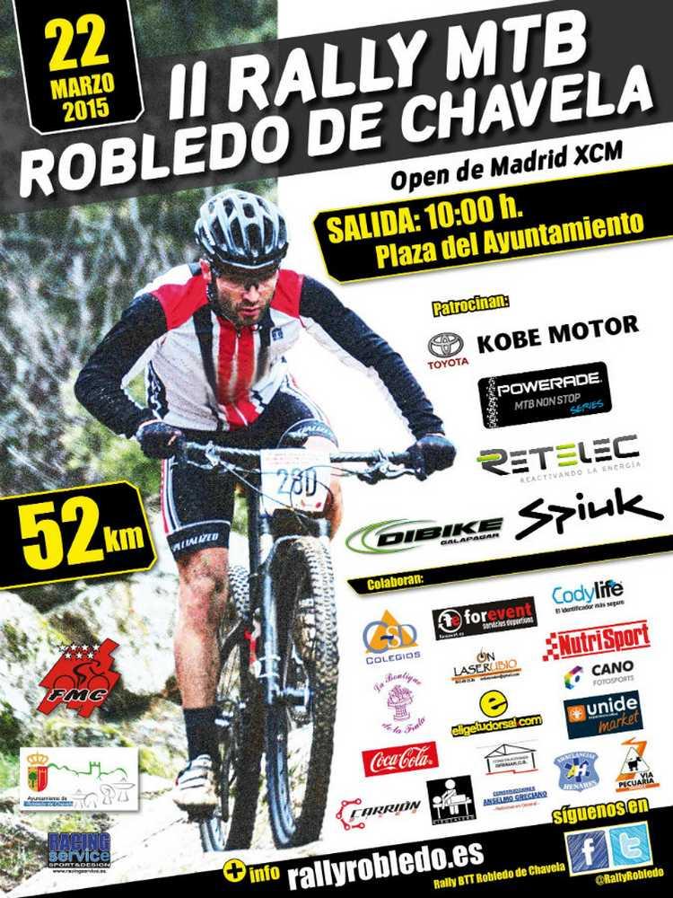Cartel II Rally BTT Robledo - Robledo de Chavela