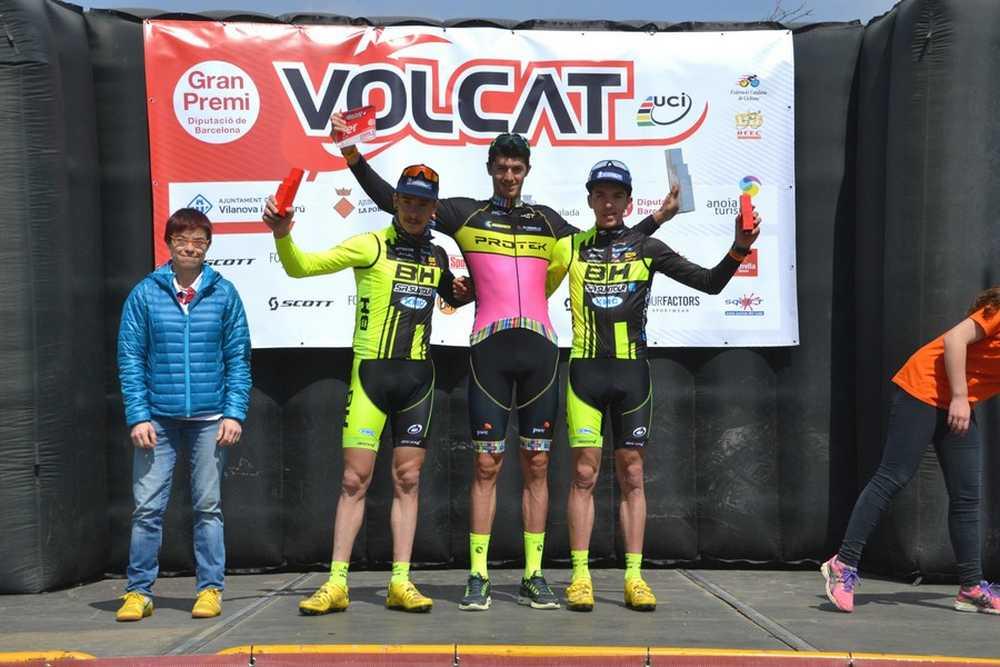 Podio Masculino Volcat 2015 etapa vilanova-geltru