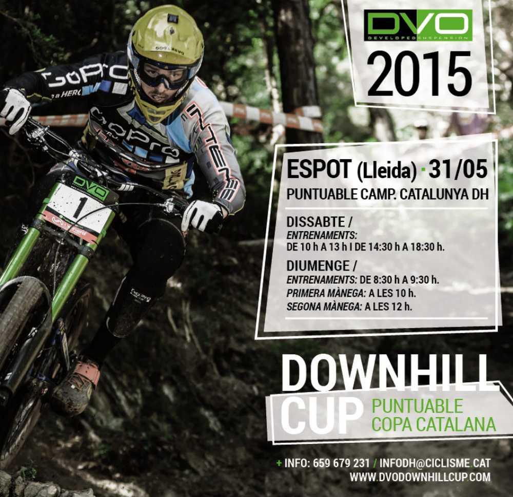 Cartel Campeonato de Cataluña de DH y 3ª prueba de la DVO Downhill Cup 2015