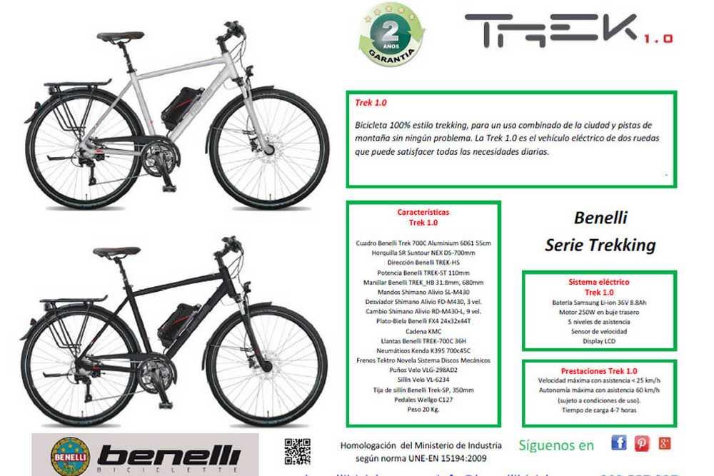 Catálogo bicicletas Benelli 2015