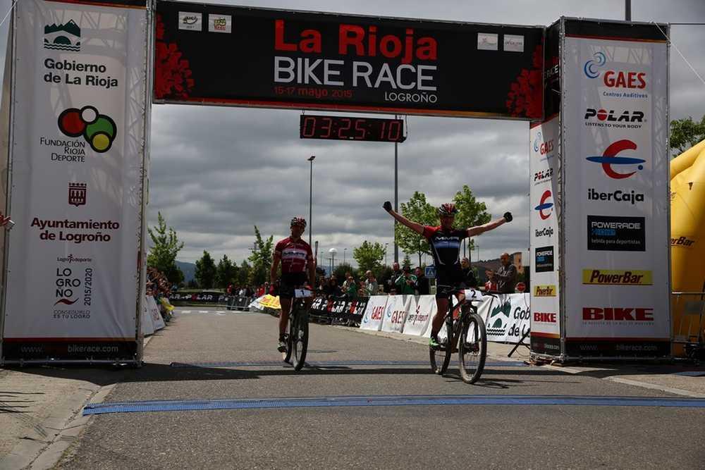 Catriel Soto y Carlos Coloma la 2ª etapa de La Rioja Bike Race