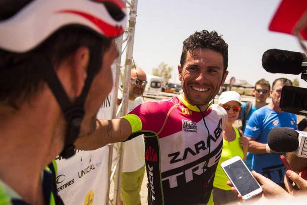 Diego Tamayo  líder de la Titan Desert 2015