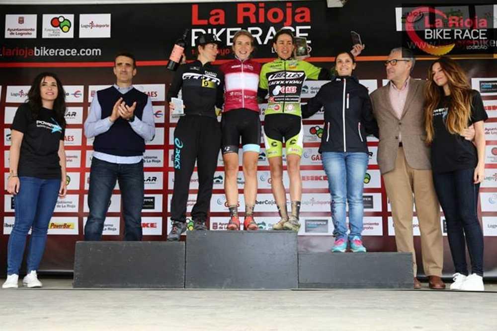Podio Elite femeninio 1ª etapa de La Rioja Bike Race