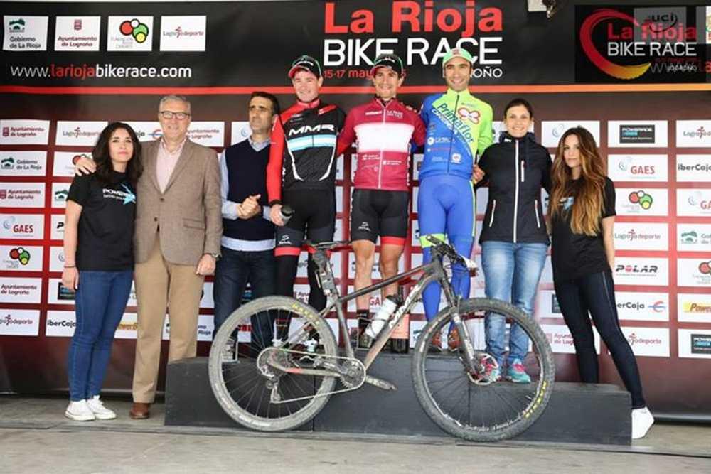Podio elite masculino 1ª etapa de La Rioja Bike Race