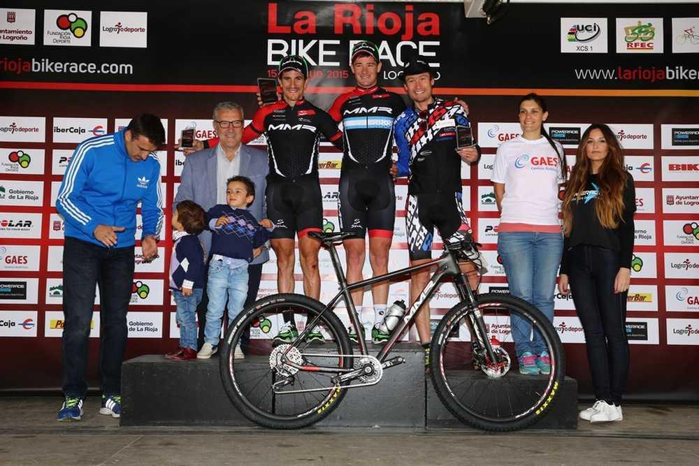 Podio elite masculino 2ª etapa de La Rioja Bike Race 2015 03