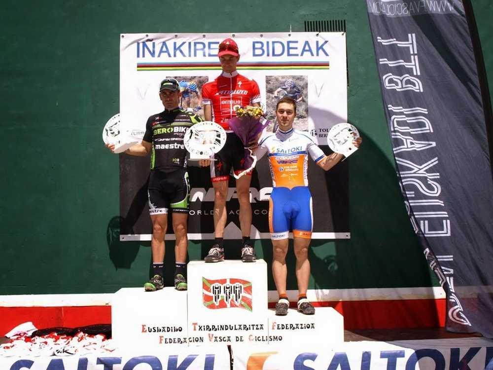 Podio masculino Crónica Campeonato de Euskadi BTT XCO 2015
