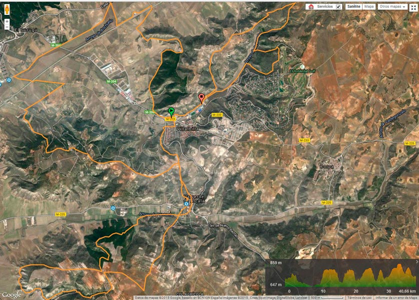 recorrido Circuito Scott 7 Estrellas MTB - Ruta del Henares - Villalbilla