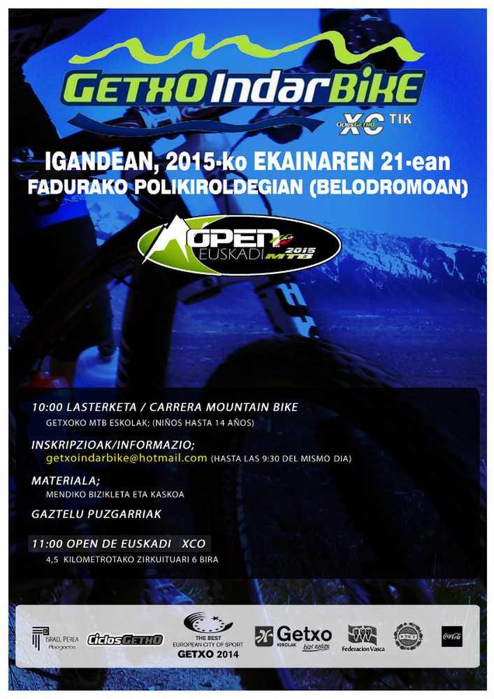 Cartel Open de Euskadi de Rally MTB 2015 getxo