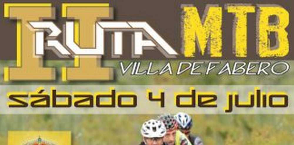 Cartel Ruta de la Antracita - II Ruta MTB Villa de Fabero (León)