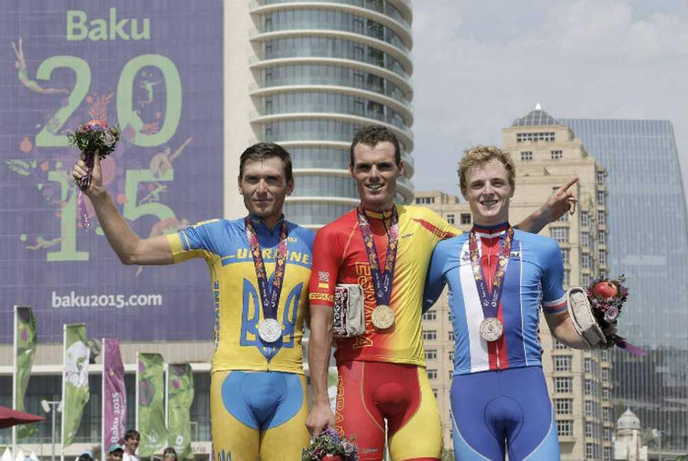 Podio Luis León Sánchez Juegos Europeos de Baku