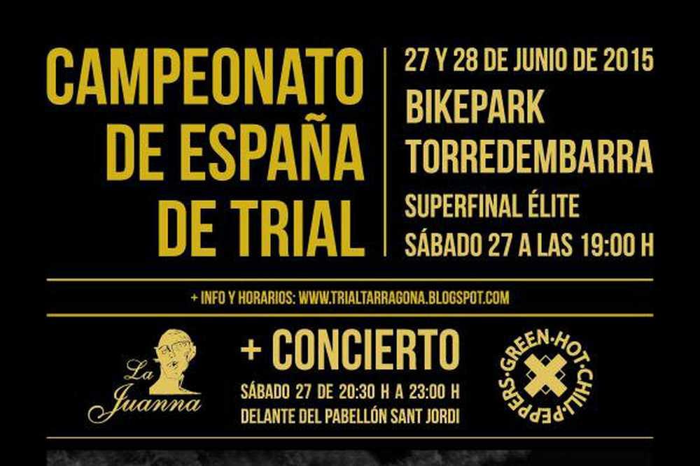 Cartel Campeonato de España de Biketrial