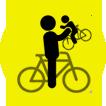 en bicicleta aconseja y ayuda a los nuevos
