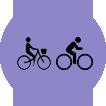 salir a montar en bicicleta en grupo es divertido