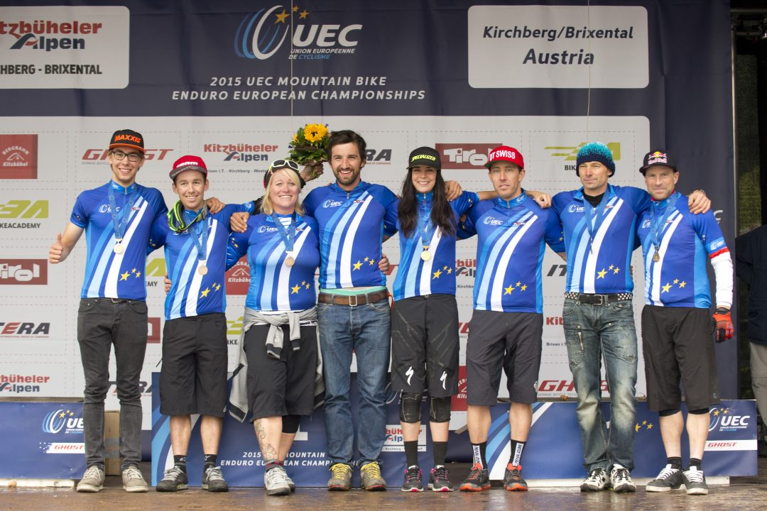 Podio UEC Enduro European Championships en el Tirol, Kirchberg
