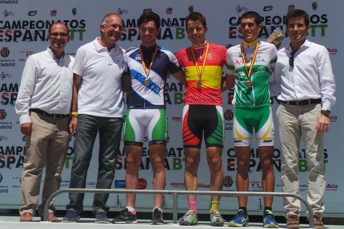 Podio junior masculino Campeonato de España BTT 2015