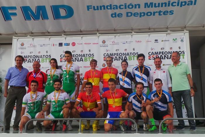 Podio team relay campeonato de españa 2015