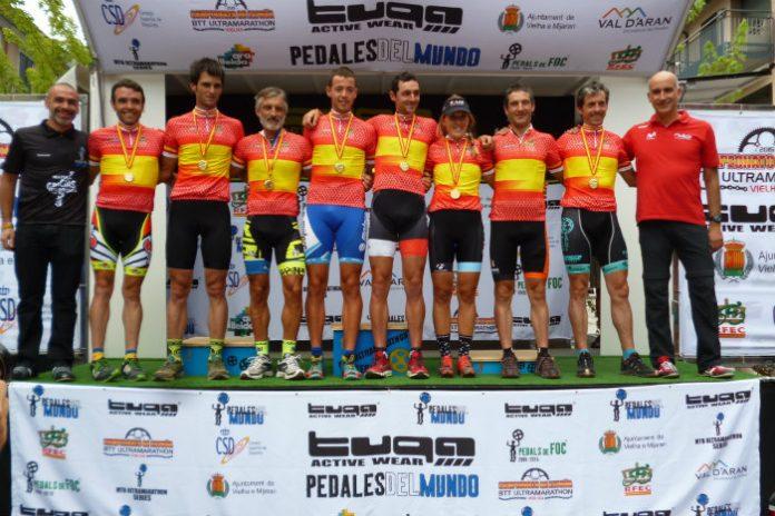Podio todos los campeones de España de BTT-Ultramaratón