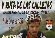 Cartel V Ruta de las Callejas MTB - Navalmoral de la Sierra (Ávila)