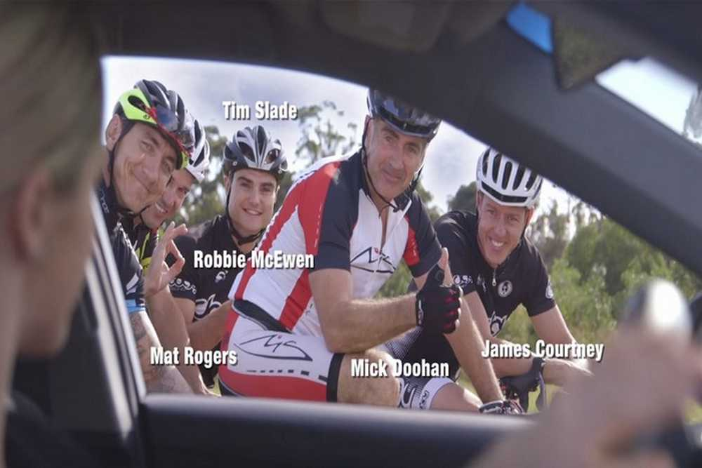 Campaña respeto a los ciclistas protagonizada por deportistas australianos