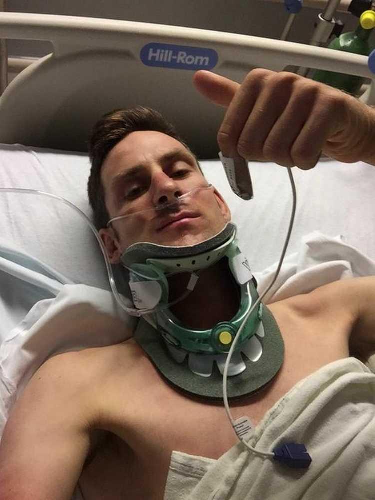 Espectacular accidente de Matt Brammeier en el Tour de Utah