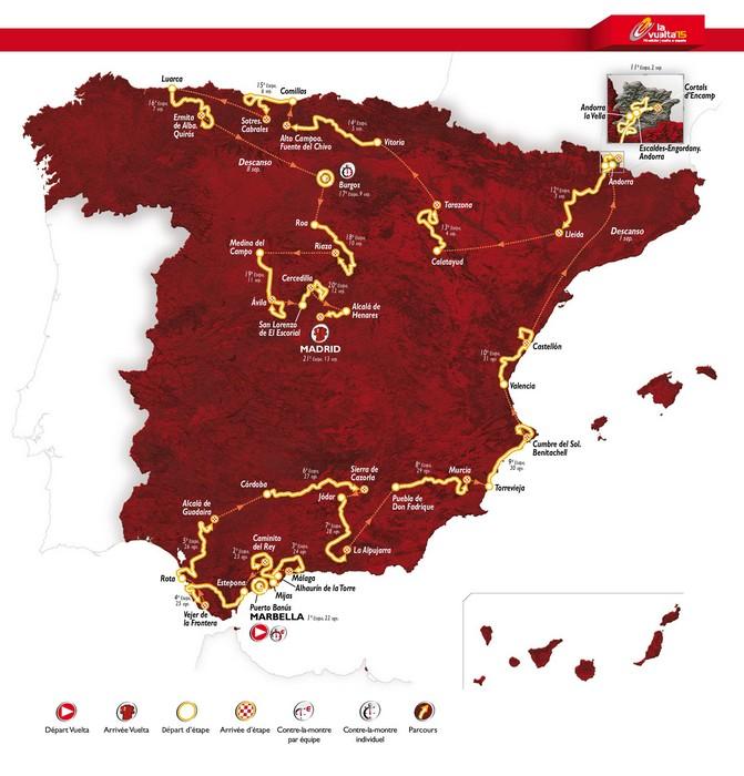 Recorrido Vuelta España 2015